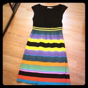 Calvin Klein Multi- Colored Striped Dress Sz 4P